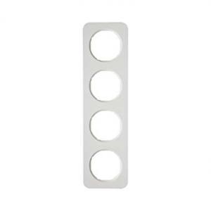 Berker 10142189 Рамка, R.1, 4-местная, цвет: полярная белизна (23,2) серия  купить в Москве, цена в России: опт, розница | smart