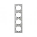 10142204 Рамка, R.3, 4-местная, нержавеющая сталь цвет: черный (192,23)