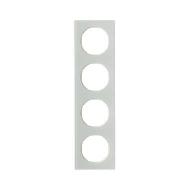 Berker 10142209 Рамка R.3, 4-местная, стекло, цвет: полярная белизна (192,23) серия  купить в Москве, цена в России: опт, розниц
