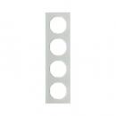 10142209 Рамка R.3, 4-местная, стекло, цвет: полярная белизна (192,23)