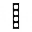 10142216 Рамка R.3, 4-местная, стекло, цвет: черный (192,23)