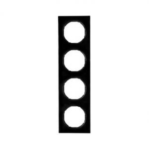 Berker 10142245 Рамка, R.3, 4-местная, цвет: черный (33,23) серия  купить в Москве, цена в России: опт, розница   smartipad.ru