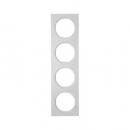 10142274 Рамка, R.3, 4-местная, алюминий, цвет: полярная белизна (192,23)