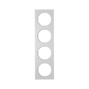 Berker 10142274 Рамка, R.3, 4-местная, алюминий, цвет: полярная белизна (192,23) серия  купить в Москве, цена в России: опт, роз