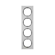 Berker 10142284 Рамка, R.3, 4-местная, алюминий, цвет: черный (192,23) серия  купить в Москве, цена в России: опт, розница   sma