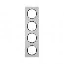 10142284 Рамка, R.3, 4-местная, алюминий, цвет: черный (192,23)