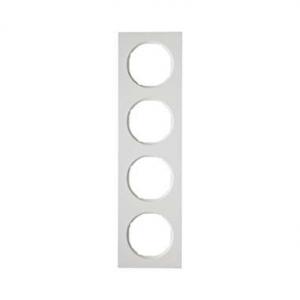 Berker 10142289 Рамка, R.3, 4-местная, цвет: полярная белизна (23,2) серия  купить в Москве, цена в России: опт, розница | smart