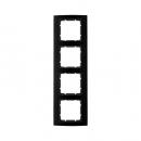 10143005 Рамкa B.3, 4-местная, алюминий, цвет: черный/антрацитовый
