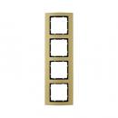 10143016 Рамкa B.3, 4-местная, алюминий, цвет: золотой/антрацитовый