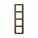 10143021 Рамкa B.3, 4-местная, алюминий, цвет: коричневый/полярная белизна