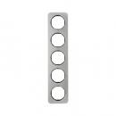 10152104 Рамка, R.1, 5-местная, нержавеющая сталь цвет: черный (261,97)