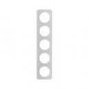 10152109 Рамка, R.1, 5-местная, стекло, цвет: полярная белизна (261,97)