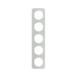 Berker 10152109 Рамка, R.1, 5-местная, стекло, цвет: полярная белизна (261,97) серия  купить в Москве, цена в России: опт, розни