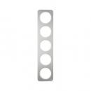 10152114 Рамка, R.1, 5-местная, нержавеющая сталь цвет: полярная белизна (261,97)