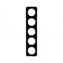 10152145 Рамка, R.1, 5-местная, цвет: черный (46,44)