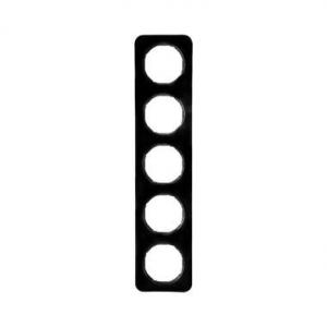 Berker 10152145 Рамка, R.1, 5-местная, цвет: черный (46,44) серия  купить в Москве, цена в России: опт, розница   smartipad.ru