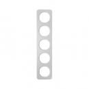 10152174 Рамка, R.1, 5-местная, алюминий, цвет: полярная белизна (261,97)