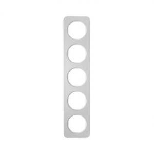 Berker 10152174 Рамка, R.1, 5-местная, алюминий, цвет: полярная белизна (261,97) серия  купить в Москве, цена в России: опт, роз