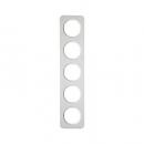 10152189 Рамка, R.1, 5-местная, цвет: полярная белизна (38)