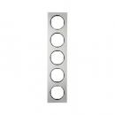 10152204 Рамка, R.3, 5-местная, нержавеющая сталь цвет: черный (261,97)