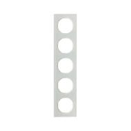 Berker 10152209 Рамка R.3, 5-местная, стекло, цвет: полярная белизна (261,97) серия  купить в Москве, цена в России: опт, розниц
