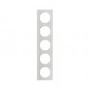 10152209 Рамка R.3, 5-местная, стекло, цвет: полярная белизна (261,97)