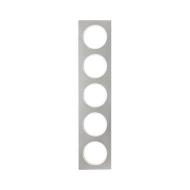Berker 10152214 Рамка, R.3, 5-местная, нержавеющая сталь цвет: полярная белизна (261,97) серия  купить в Москве, цена в России: