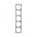 10152214 Рамка, R.3, 5-местная, нержавеющая сталь цвет: полярная белизна (261,97)