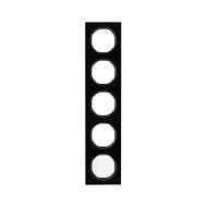 Berker 10152216 Рамка R.3, 5-местная, стекло, цвет: черный (261,97) серия  купить в Москве, цена в России: опт, розница   smarti