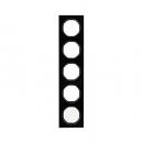 10152216 Рамка R.3, 5-местная, стекло, цвет: черный (261,97)