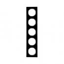 10152245 Рамка, R.3, 5-местная, цвет: черный (46,44)