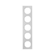 Berker 10152274 Рамка, R.3, 5-местная, алюминий, цвет: полярная белизна (261,97) серия  купить в Москве, цена в России: опт, роз