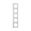 10152274 Рамка, R.3, 5-местная, алюминий, цвет: полярная белизна (261,97)
