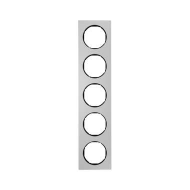 Berker 10152284 Рамка, R.3, 5-местная, алюминий, цвет: черный (261,97) серия  купить в Москве, цена в России: опт, розница | sma