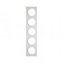 10152289 Рамка, R.3, 5-местная, цвет: полярная белизна (38)