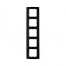 10153005 Рамкa B.3, 5-местная, алюминий, цвет: черный/антрацитовый