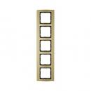 10153016 Рамкa B.3, 5-местная, алюминий, цвет: золотой/антрацитовый
