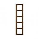 10153021 Рамкa B.3, 5-местная, алюминий, цвет: коричневый/полярная белизна