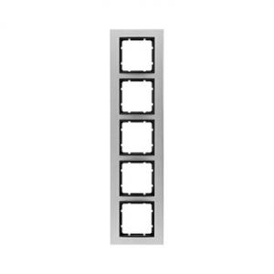 Berker 10153606 Рамкa B.7, 5-местная, нержавеющая сталь, цвет: антрацитовый серия  купить в Москве, цена в России: опт, розница