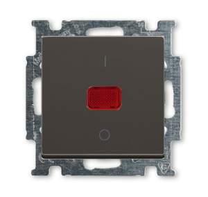 1020-0-0092 (1020/2 UCK-95) BJB Basic 55 Шато (чёрн) Выключатель 1-клавишный 2-полюсный, 20A
