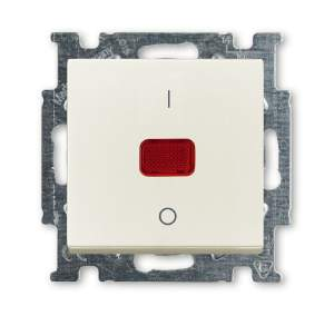 1020-0-0093 (1020/2 UCK-96) BJB Basic 55 Шале (бел) Выключатель 1-клавишный 2-полюсный, 20A