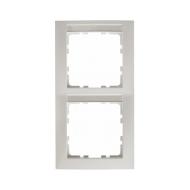 Berker 10228919 Рамка 2-я вертикальная с полем для надписей, Цвет: полярная белизна, с блеском серия  купить в Москве, цена в Ро