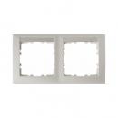 10229919 Рамка 2-я горизонтальная, с полем для надписей белый
