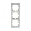 10238919 Рамка 3-я вертикальнаяс полем для надписей, Цвет: полярная белизна, с блеском