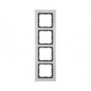 10243606 Рамкa B.7, 4-местная, нержавеющая сталь, цвет: антрацитовый