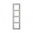 10243609 Рамкa B.7, 4-местная, нержавеющая сталь, цвет: полярная белизна