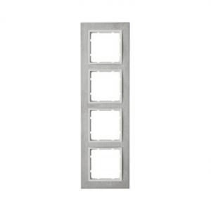 Berker 10243609 Рамкa B.7, 4-местная, нержавеющая сталь, цвет: полярная белизна серия  купить в Москве, цена в России: опт, розн