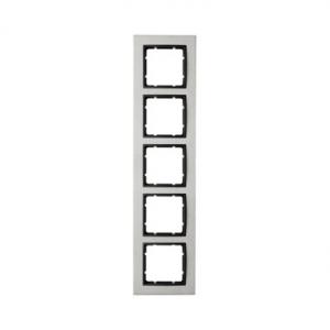 Berker 10253606 Рамкa B.7, 5-местная, нержавеющая сталь, цвет: антрацитовый серия  купить в Москве, цена в России: опт, розница