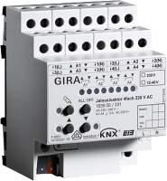103900 Реле/устройство управления жалюзи GIRA instabus knx-eib серия KNX/EIB, 4-канальное 230/24-48 В, с ручным управлением