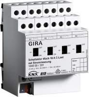 104500 Реле GIRA instabus knx-eib серияKN{/EIB, 4-канальное,с ручным управлением,для емкостной нагрузки, с функцией замера тока
